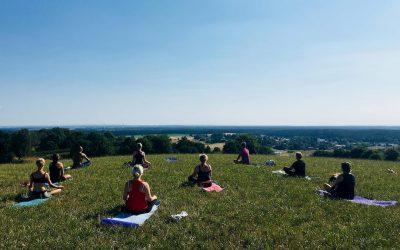 Yoga i sommar