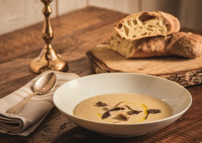 Soup with elevated flavours